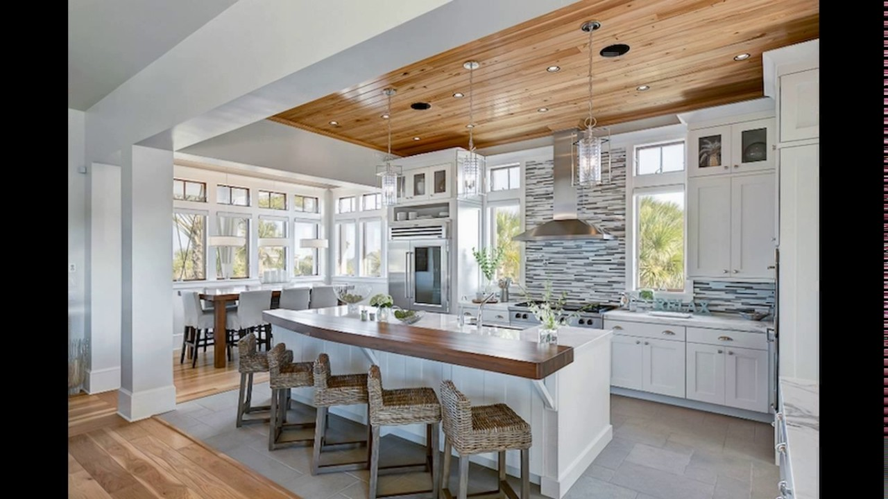 Beach cottage kitchen designs youtube for Cottage style kitchen design