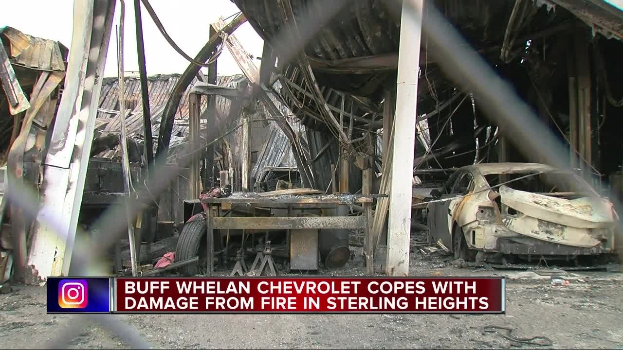 Buff Whelan Chevrolet Copes With Damage From Fire