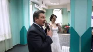 Музыкальное поздравление папы  на свадьбе дочери Оксаны