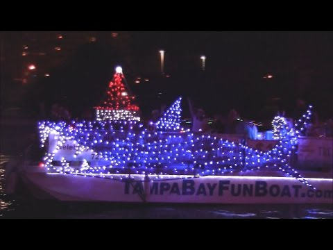 2016 Tampa Riverwalk Holiday Boat Parade of Lights