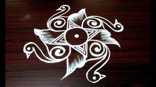 how to draw beautiful indian birds rangoli art designs    simple kolam designs    muggulu designs