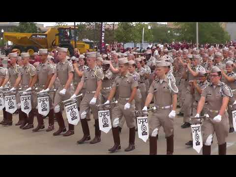 Fightin' Texas Aggie Band March-in to Kyle Field - ULaLa Game on Sept 16, 2017