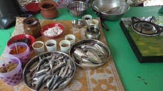 village style Cooking mathi meen kulambu in tamil vlog / fish fry Cooking By Village food Recipes