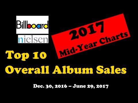 2017 Billboard Mid-Year Charts - Top 10 Overall Album Sales | ChartExpress