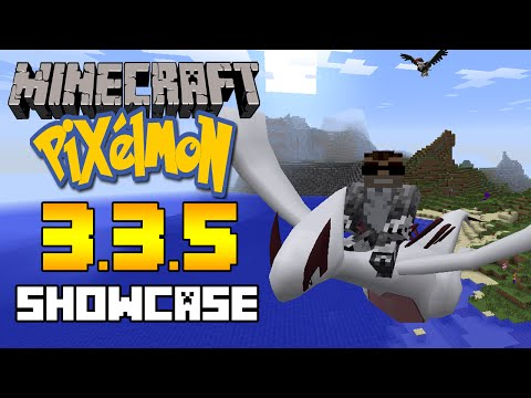 Minecraft Pixelmon 3.3.5 Update Showcase - Legendary Lugia, Razor Claw & MORE!