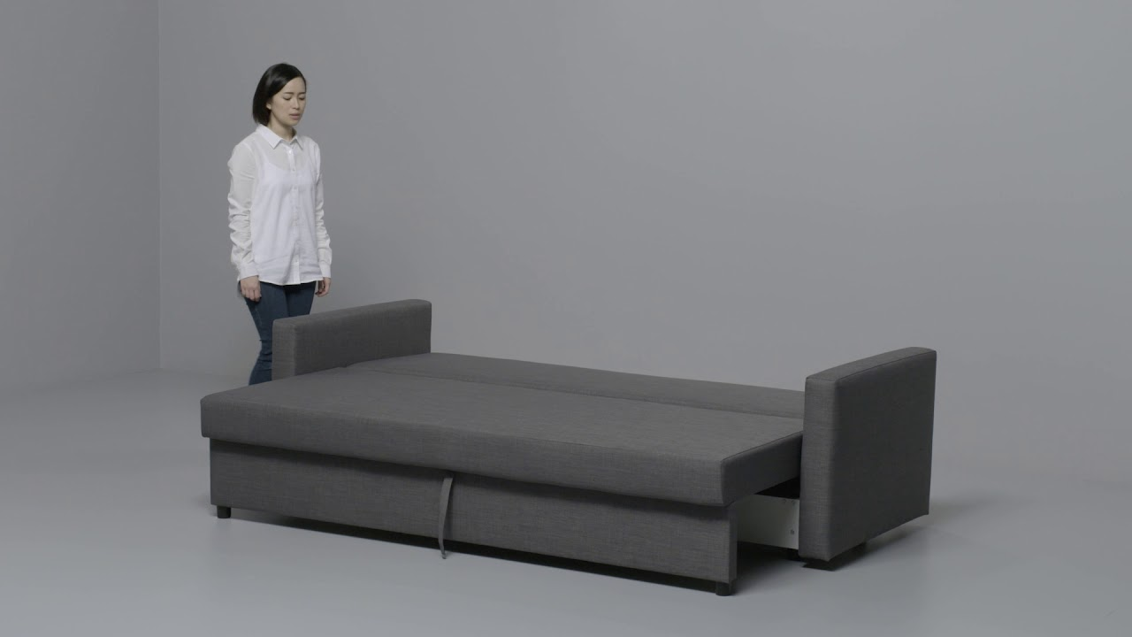 ikea friheten anleitung vom 3 er sofa zum bett youtube. Black Bedroom Furniture Sets. Home Design Ideas
