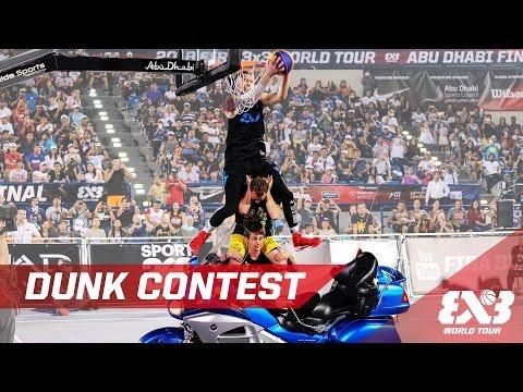 Jam over 2 people + motorbike! - The Dunk Contest - Abu Dhabi Final - 2016 FIBA 3x3 World Tour