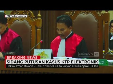 Kerasnya Hukuman Terdakwa e-KTP; Vonis Lengkap  bagi Terdakwa Irman & Sugiharto