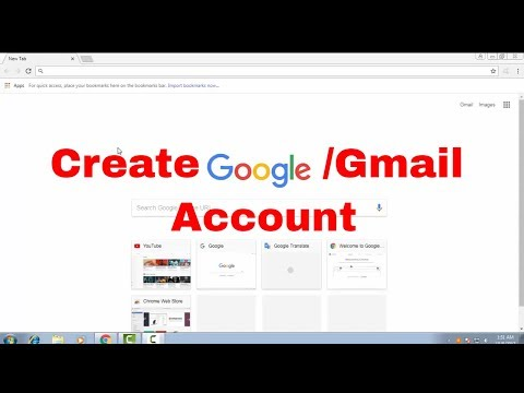 sign up/create/make new Google/Gmail Account with strong password guideline  Google Account tips 1
