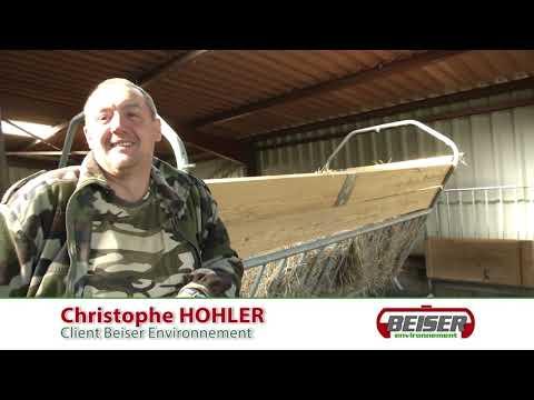 Témoignage client : Christophe HOHLER (Ratelier doublier avec toit)