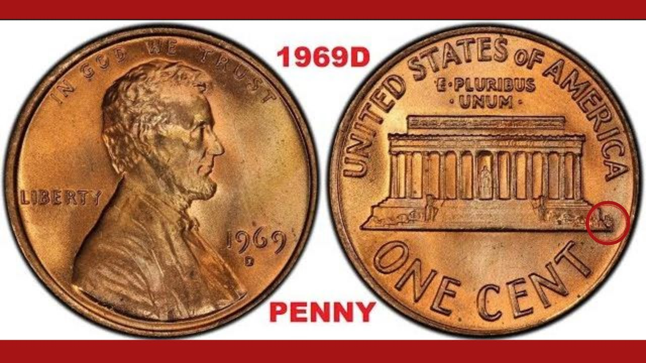 CHECK YOUR CHANGE FOR THIS COMMON 1969D PENNY WORTH MONEY!