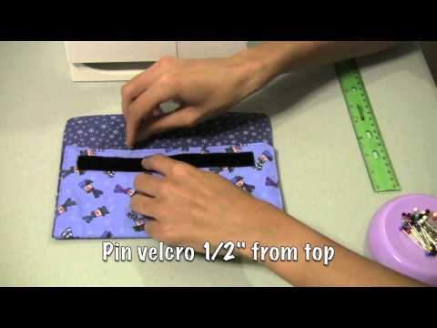 How to sew a coupon organizer or velcro clutch purse