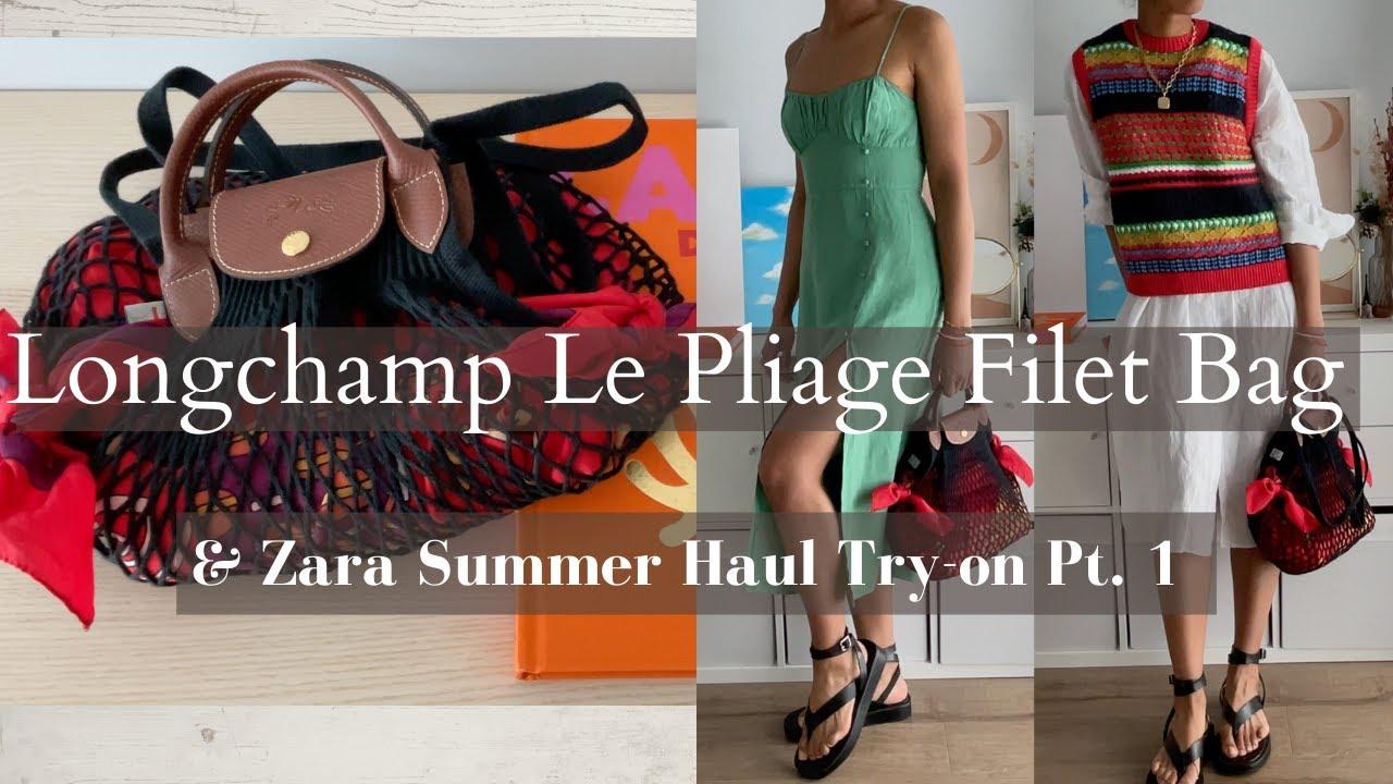 Longchamp Le Pliage Filet Net Bag & Zara Summer Haul Try-on 2021 Pt 1