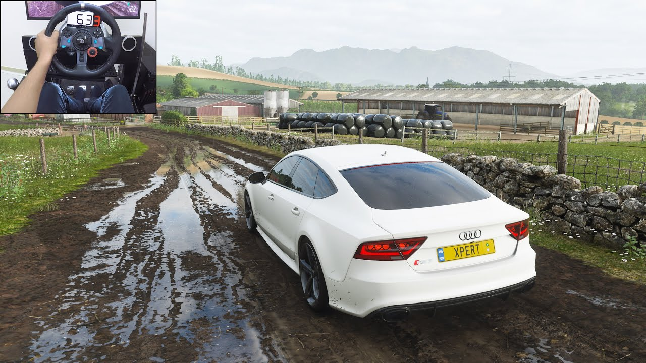 Audi RS7 Sportback - Forza Horizon 4 | Logitech g29 gameplay