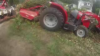 Massey Ferguson 4x4 tractor on it