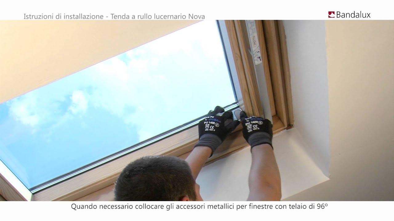 Tessuti oscuranti in vari colori. Bandalux Istruzioni Di Installazione Tenda A Rullo Per Lucernario Nova Youtube