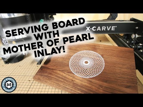 Serving Board with Mother Of Pearl Inlay! (Easy CNC How-to)