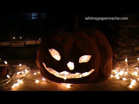 How 2 Make A Paper Mache Pumkin for Halloween