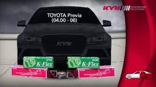 TOYOTA Previa II - REAR - Задние амортизаторы KYB установка