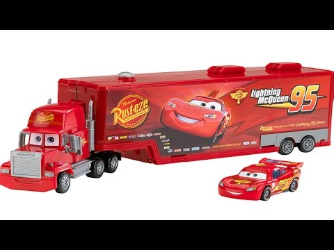 Frisk Disney Cars Mack Carrier Truck Playset and Lightning McQueen Toy AE-84