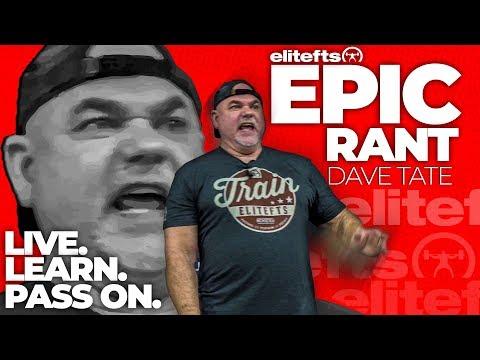Dave Tate Epic Rant at LTTX | elitefts.com