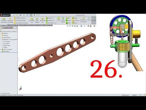 SolidWorks Tutorial Vertical Stirling Engine 26.Support Link