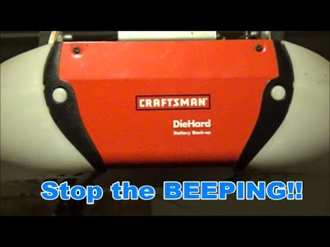 How To Replace The Backup Battery On A Craftsman Garage