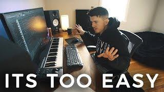 ITS TOO EASY! (making a beat fl studio)