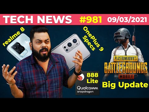 PUBG Mobile Big Update, realme 8 Series In Screen FPS, OnePlus 9 Specs, SD 888 Lite Coming-#TTN981