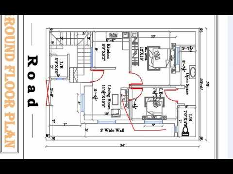 25 x 34 2bhk best house plan - YouTube  X House Design on 10x10 house, 8x10 house, 10x12 house, 24x20 house, 8x8 house, 14x14 house, 6x10 house, 10x16 house, 24x14 house, 24x12 house,