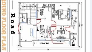 25 x 34 2bhk best house plan