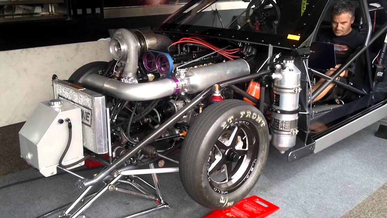 Drag Car - 4cyl Twin-cam TURBO - YouTube