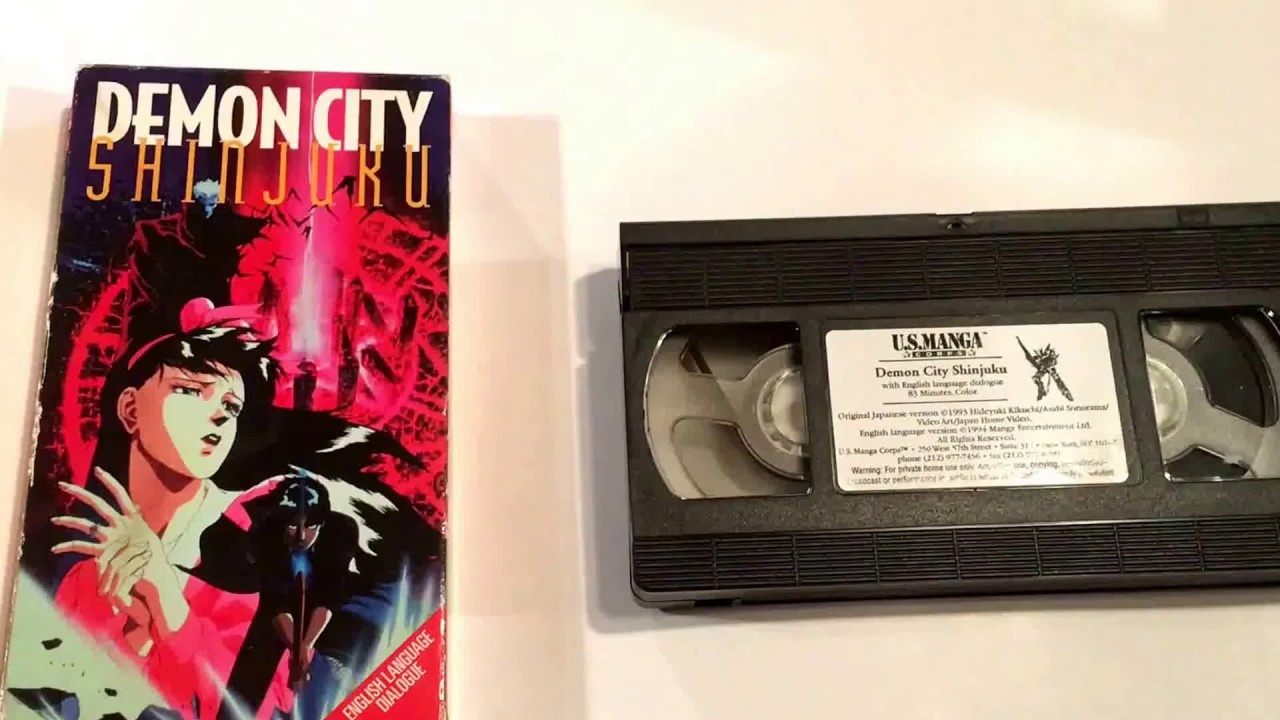 Demon City Shinjuku * U.S Manga * VHS Movie Collection ...