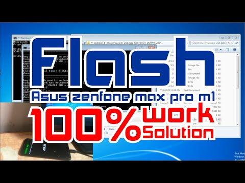 how-to-flash-asus-zenfone-max-pro-m1-100%-work-solution
