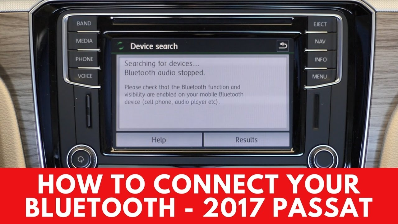 2017 volkswagen passat: how to connect bluetooth - youtube