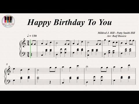 Happy Birthday To You, Piano