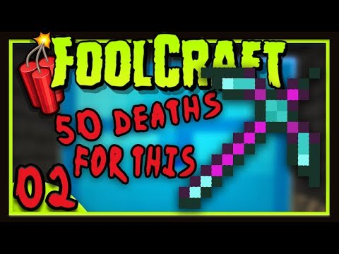 Foolcraft 3: The Ultimate Mega Loot Pickax!  (Minecraft Modded Survival Ep 2)