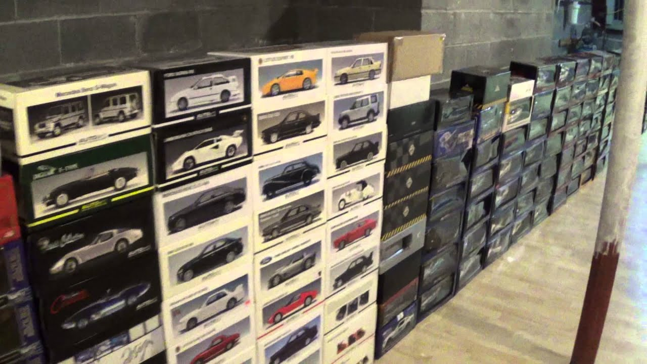 basement 1 18 diecast car collection youtube. Black Bedroom Furniture Sets. Home Design Ideas