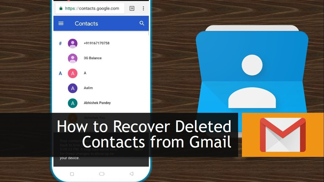 How To Recover Deleted Contacts From Gmail Youtube