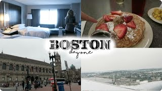 BOSTON DAY 1 VLOG: Hotel Tour, Veggie Galaxy, and Tunnels!