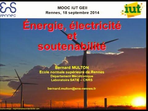 Conférence Énergie électricité et soutenabilité de Bernard Multon [18-09-14]