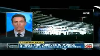 Carnival Triumph ARRIVES At Dock In Mobile Alabama
