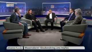 """""""Masernalarm! Glaubenskrieg ums Impfen"""" - phoenix Runde vom 26.02.2015"""