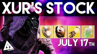 Destiny Xur Location - Exotic Armor and Weapons Breakdown | Xur Week 45 July 17th