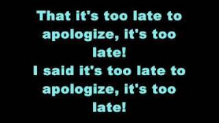 Timbaland - Apologize (ft. One Republic) Lyrics