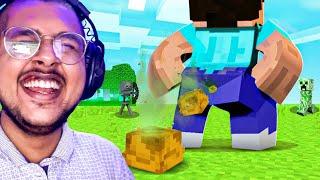 If I Laugh = Delete Minecraft !! | Rachitroo