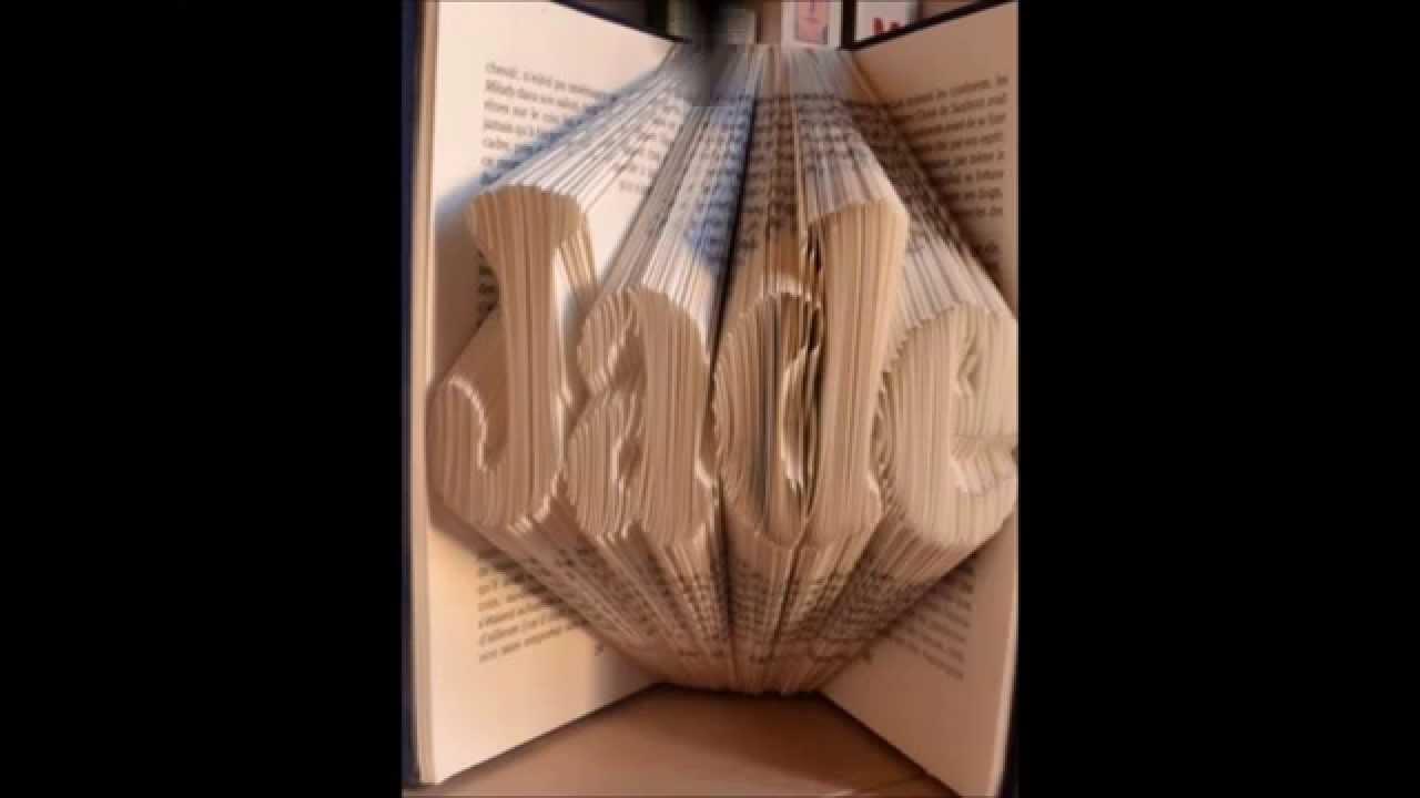 vos pliages folded books pliage de livres livres pli youtube. Black Bedroom Furniture Sets. Home Design Ideas
