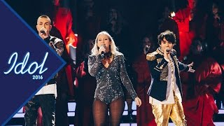 Finaltrion framför If I lose myself under Idol 2016 - Idol Sverige (TV4)