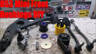 homepage tile video photo for R53 Mini Cooper S Every Front Bushing Install DIY (Part 1 of 2)