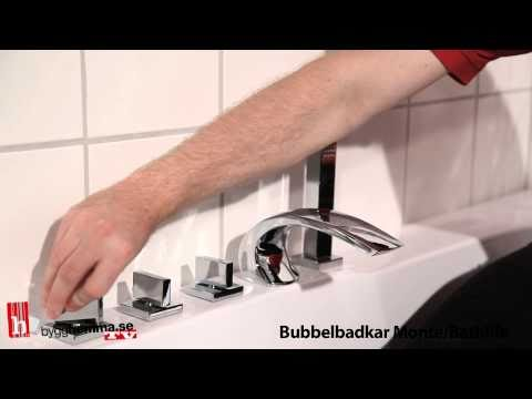 Badkar hafa massagebadkar : Bygghemma.se - Bubbelbadkar Bathlife Monte - YouTube